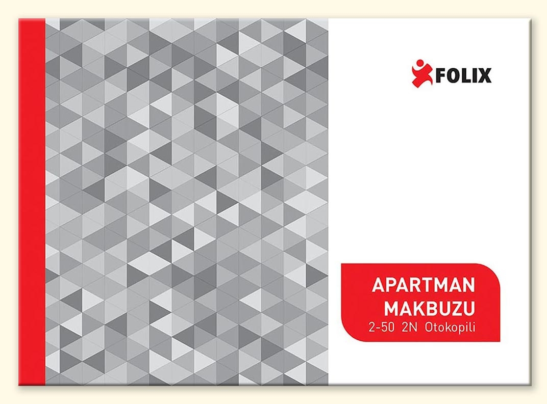 Apartman Gelir / Gider Makbuzu 2-50 FOLIX